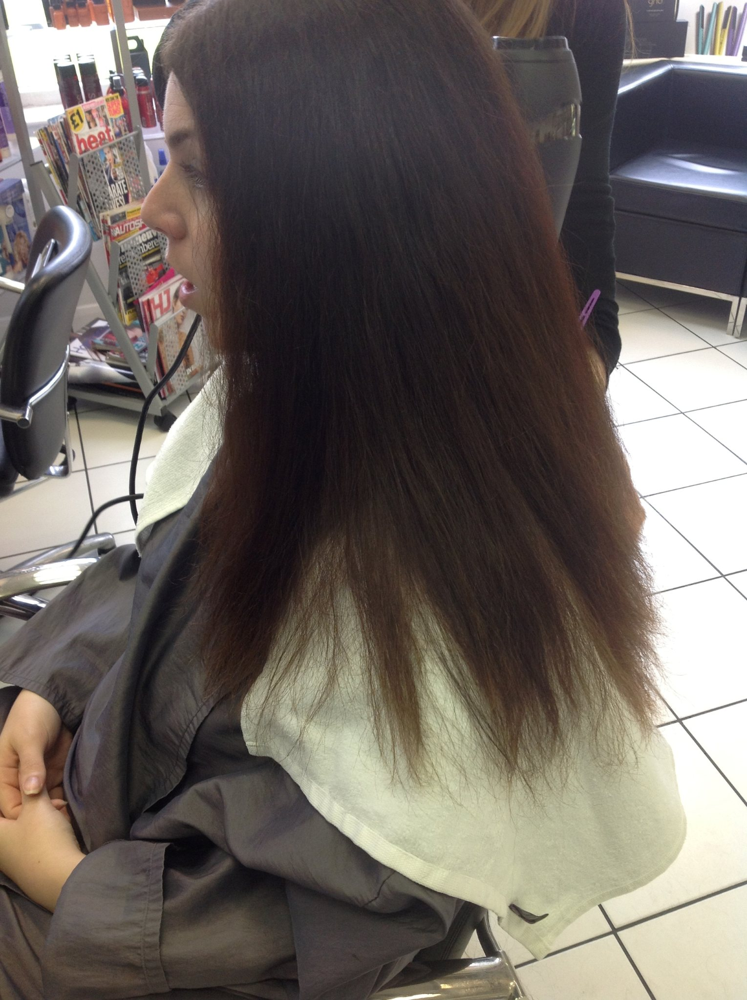 Brazilian Blow Dry - Before