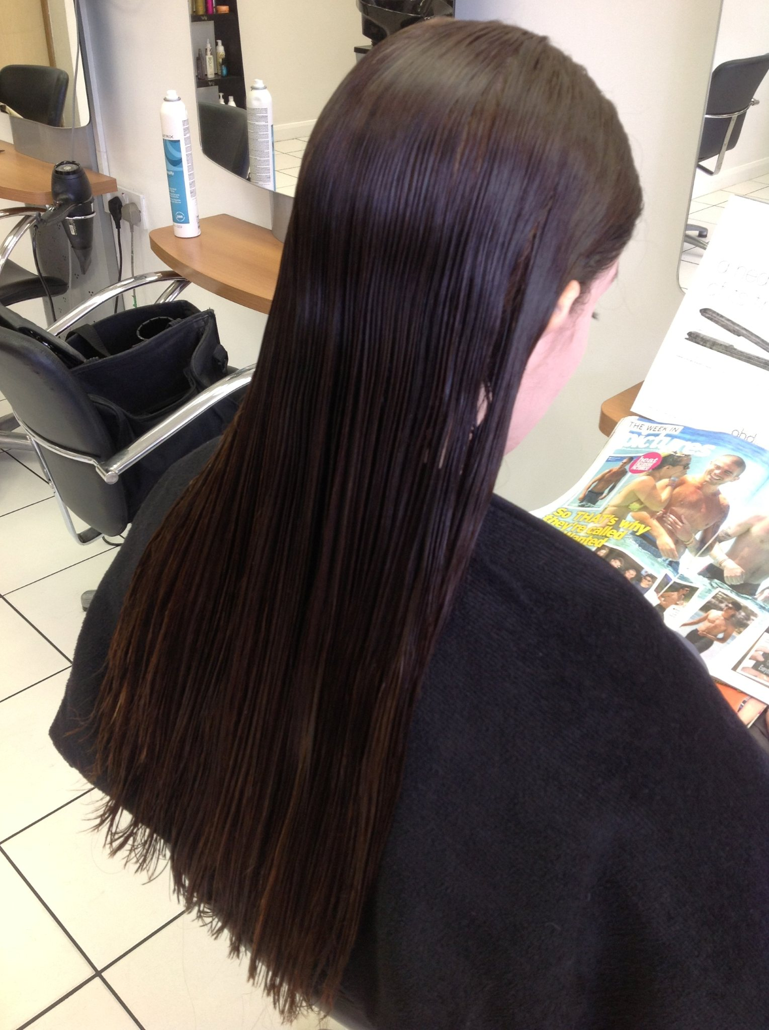 Brazilian Blow Dry - During