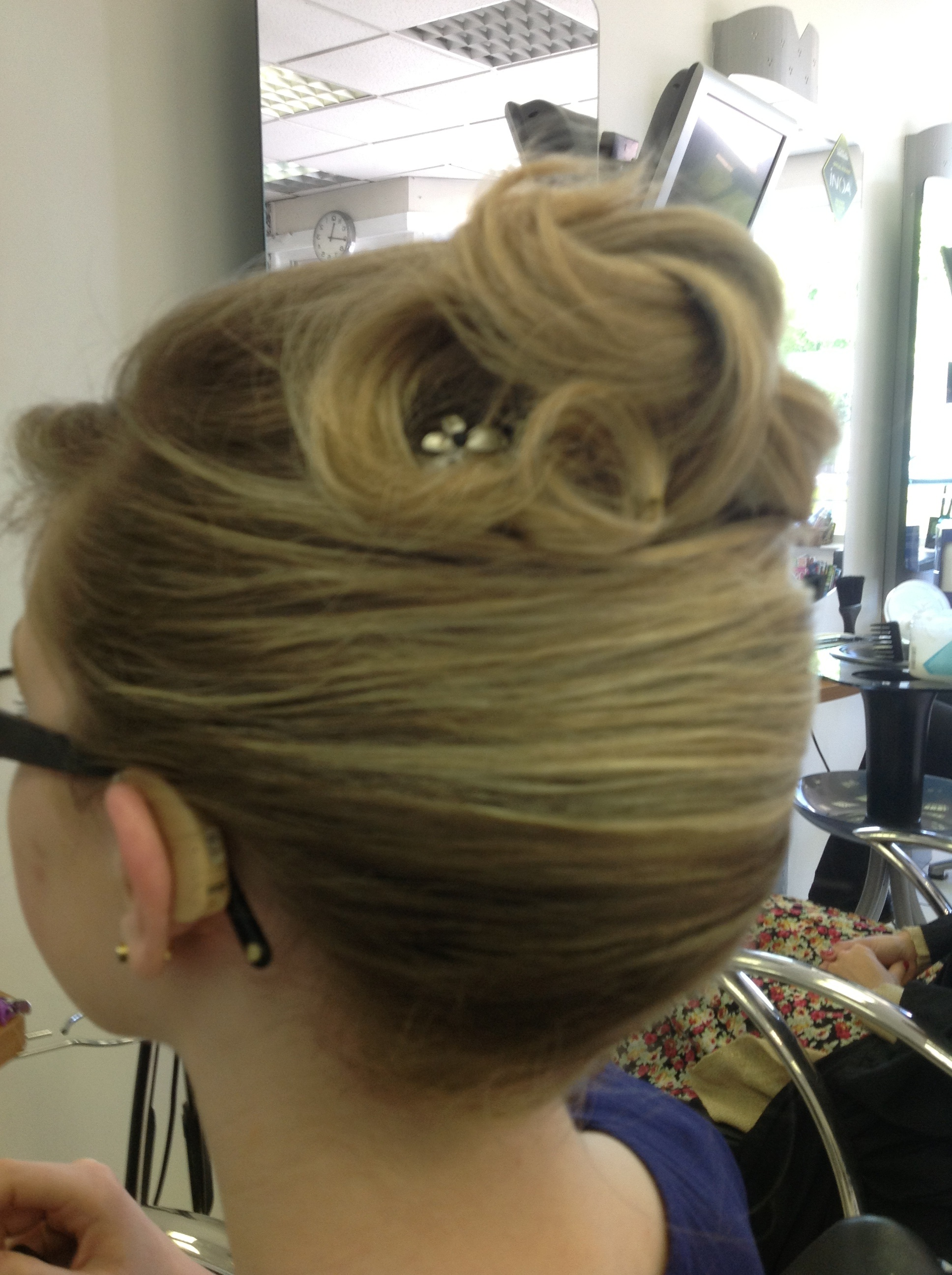 Prom Hair Style on Blonde Hair
