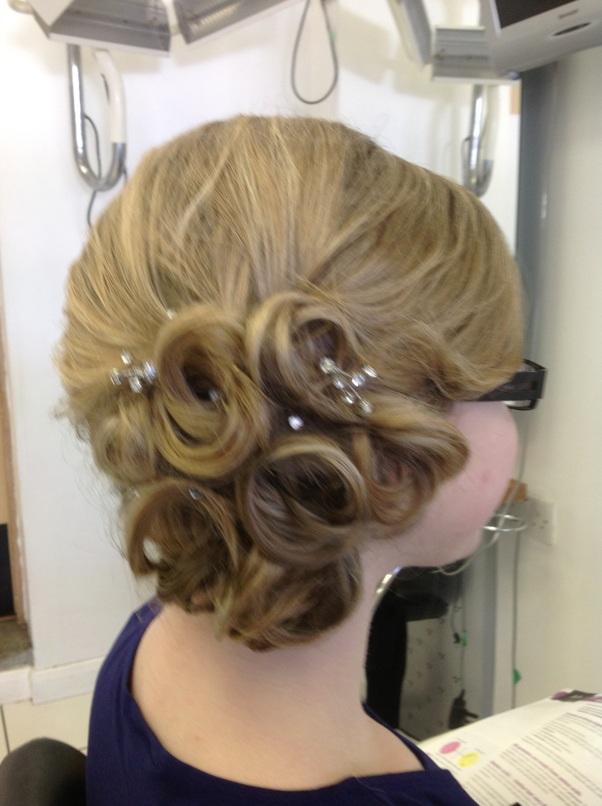 Prom Hair Style on Blonde