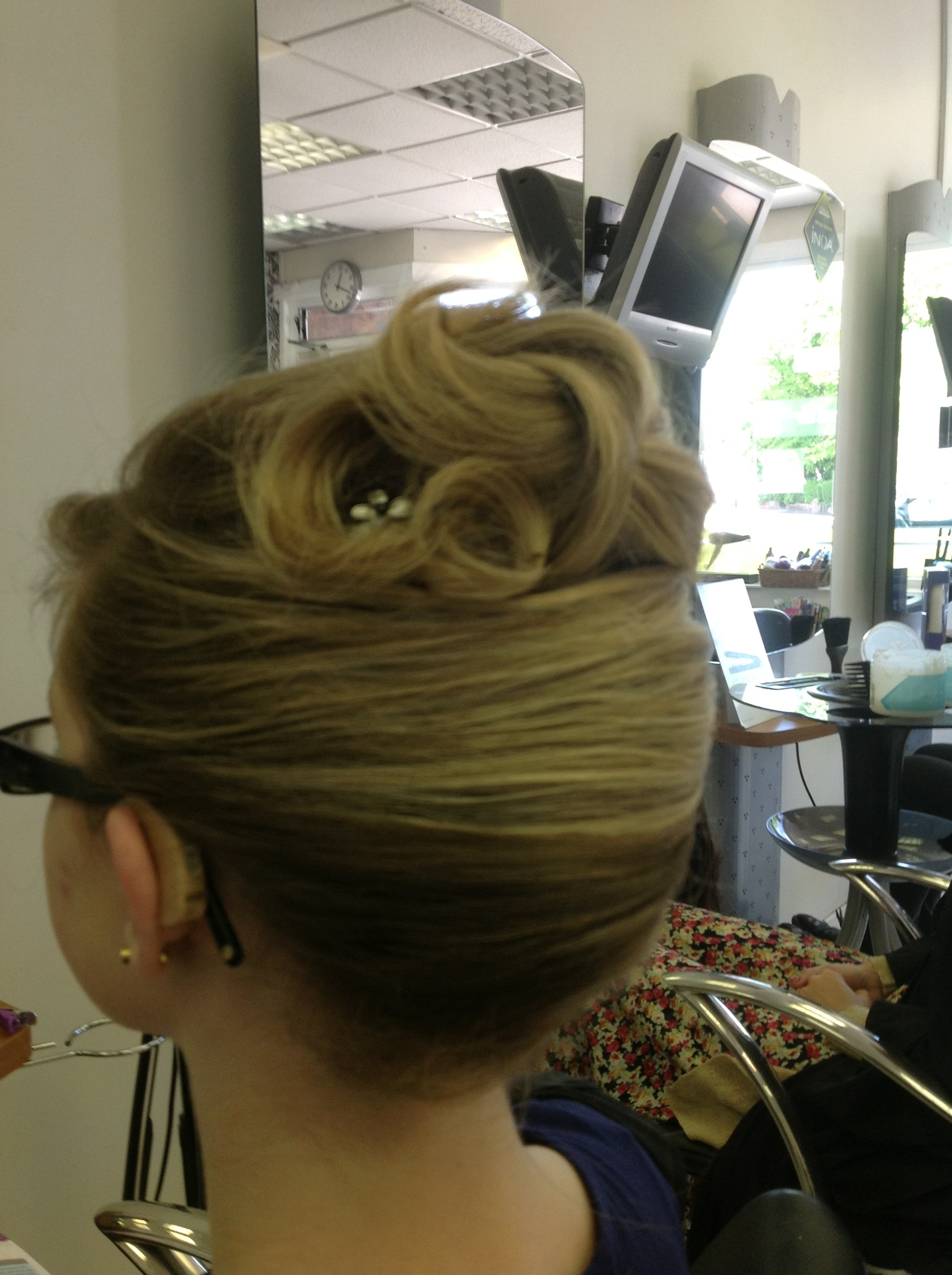 Prom Hair Up on Blonde hair