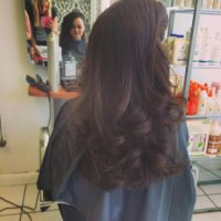 Long Dark Curly Hair Style - Emily Williams
