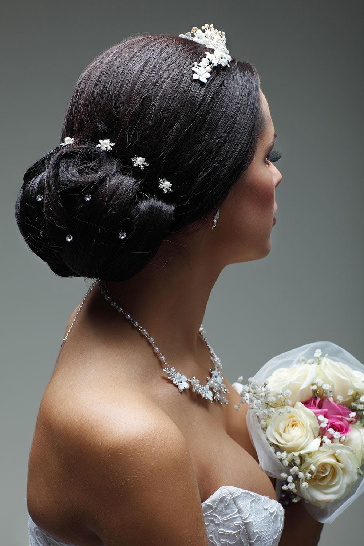 Wedding Hair Style on Dark Hair