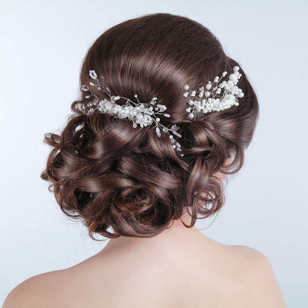 Wedding Hair Up on Brown Hair