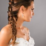 Wedding Hair Style on Brown to Blonde Ombre Hair