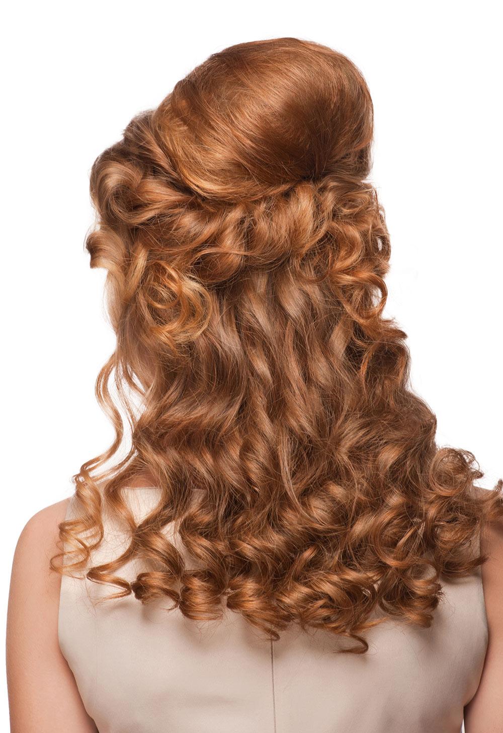 Wedding Hair Half Up Style on Red Hair