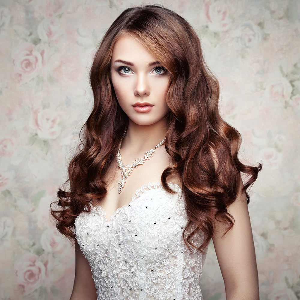 Wedding Curly Hair Style on Brown Hair