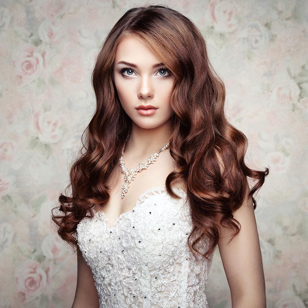 Wedding Curly Hair Style on Brown Hair