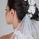 Wedding Hair Up on Dark Hair