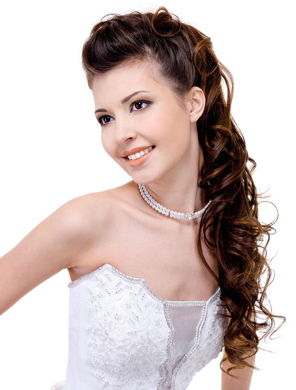 Wedding Hair Style for Brown Hair