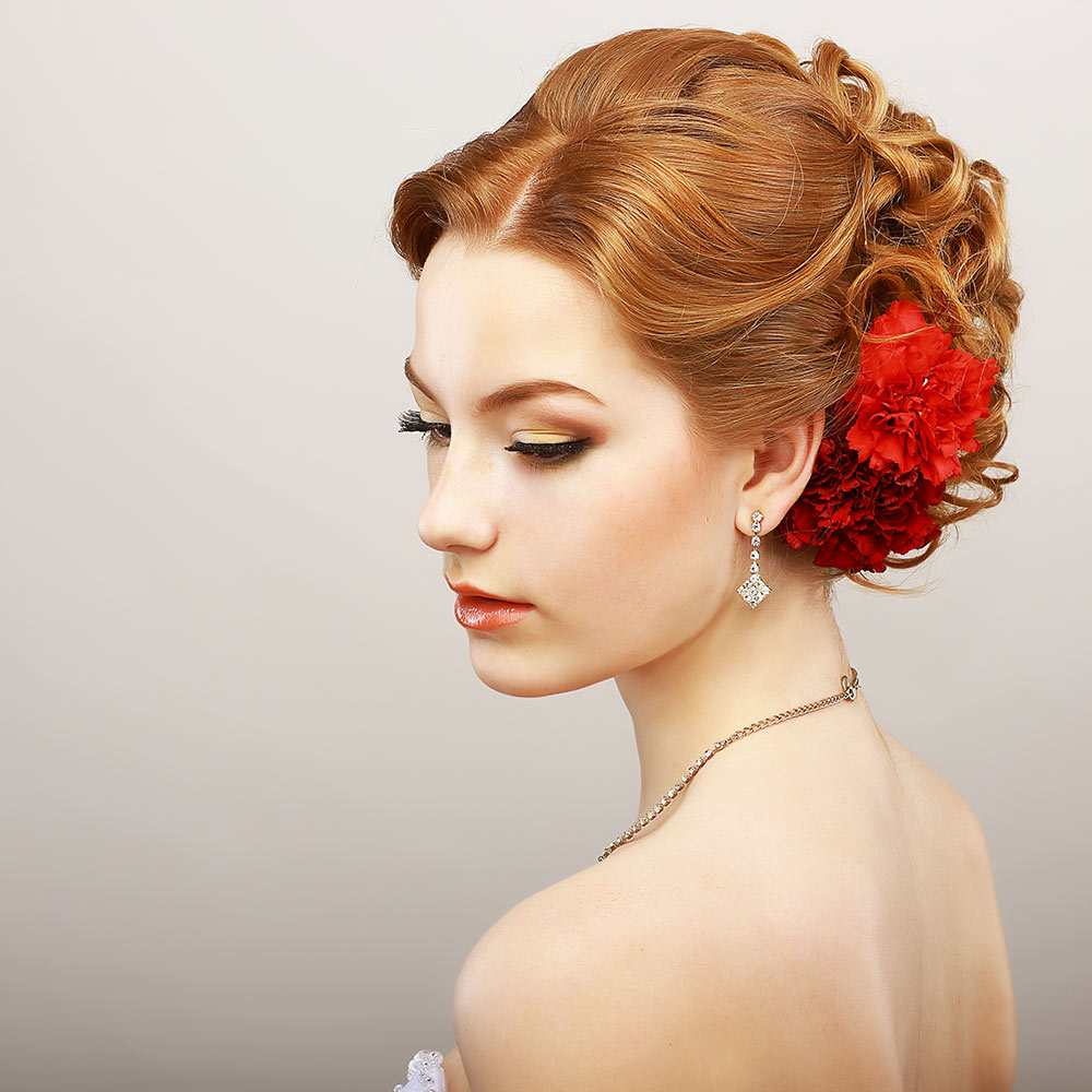 Wedding Hair Style for Red Hair