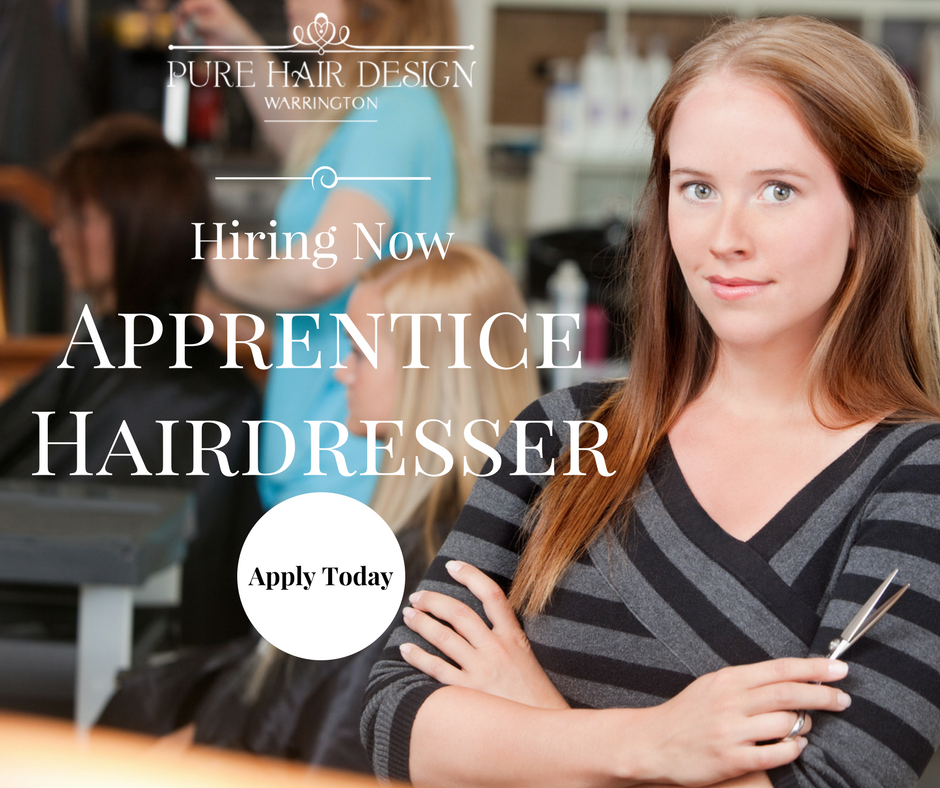 Pure Hair Design: We Are Recruiting A Apprentice Hairdresser